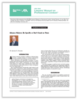 ABA/BNA Lawyers' Manual on Professional Conduct, 07/29/2015