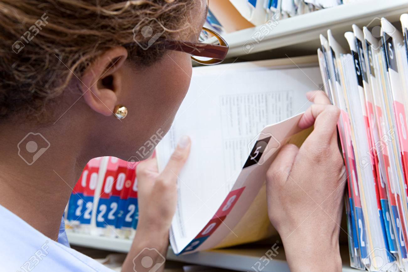Administrator looking at altered medical records